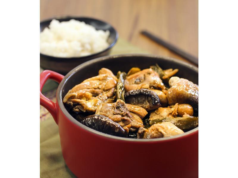 大同電鍋懶人料理~剝皮辣椒燒雞
