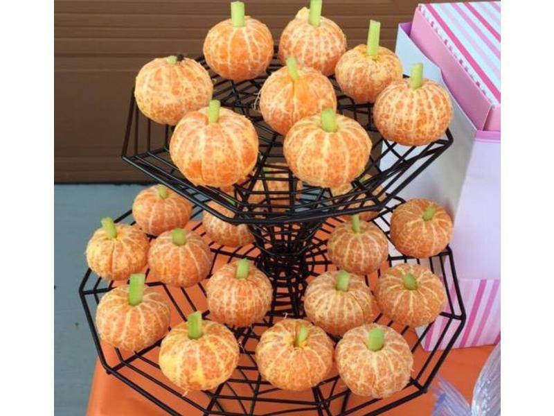 超容易萬聖節點心: 迷你橘子偽南瓜