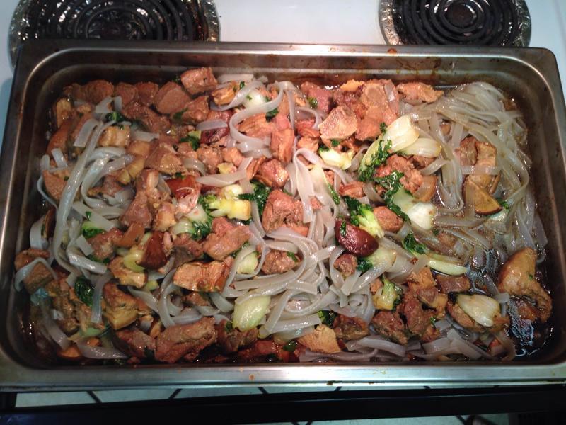 葷菜-粉條, 烏心菜, 香菇燉猪肉
