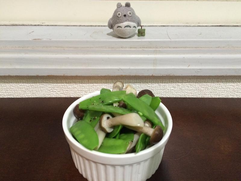 三分钟蘑菇荷兰豆