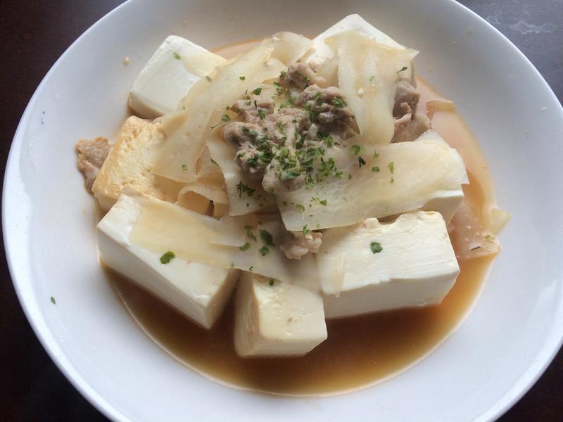 白萝卜丝豆腐