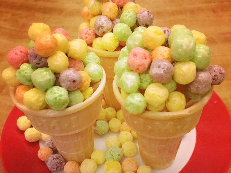 棉花糖玉米球甜筒