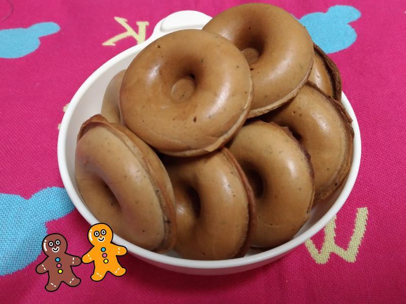 巧克力黑芝麻甜圈鬆餅