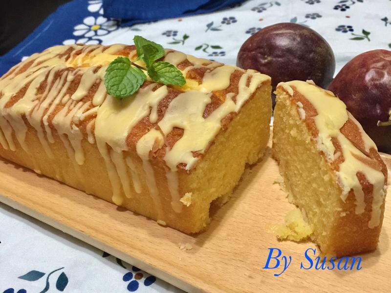 鳳梨百香果糖霜磅蛋糕