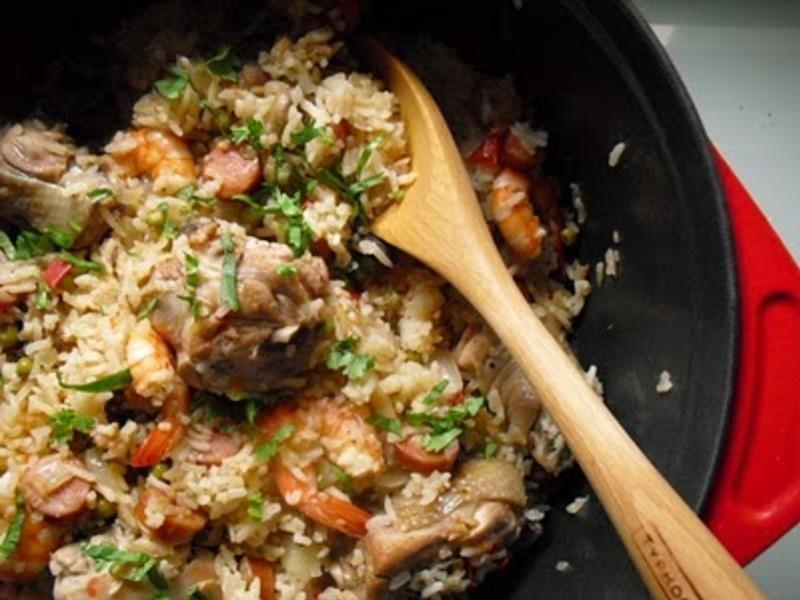 雞腿鮮蝦西班牙燉飯