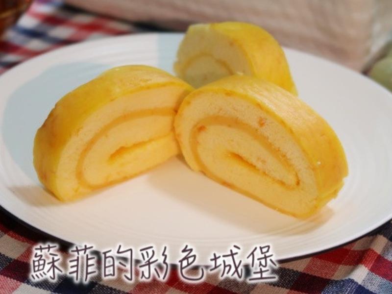 南瓜蛋糕捲(燙麵法)~ 清爽無負擔無內餡