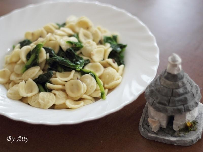 Puglia風味耳朵麵(含自製耳朵麵之方法)