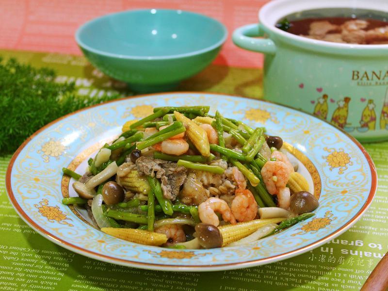 蘆筍蝦仁燴飯