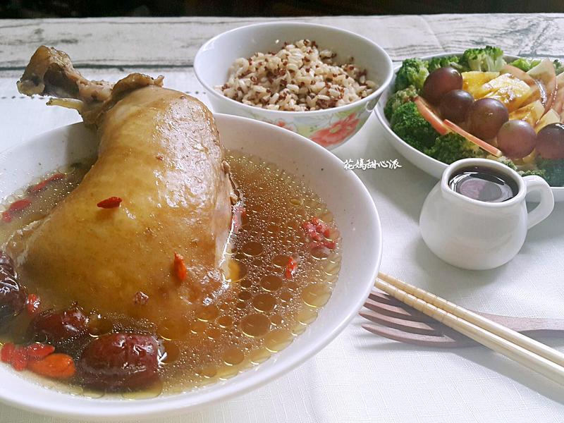人參紅藜糙米飯雞湯