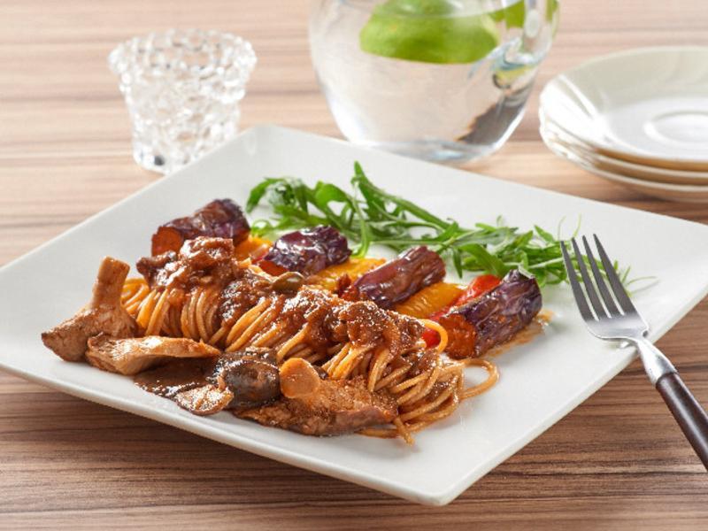 茄子秀珍菇蔬食義大利直麵