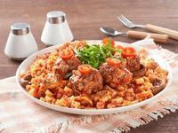 茄汁手作燕麥肉丸造型麵