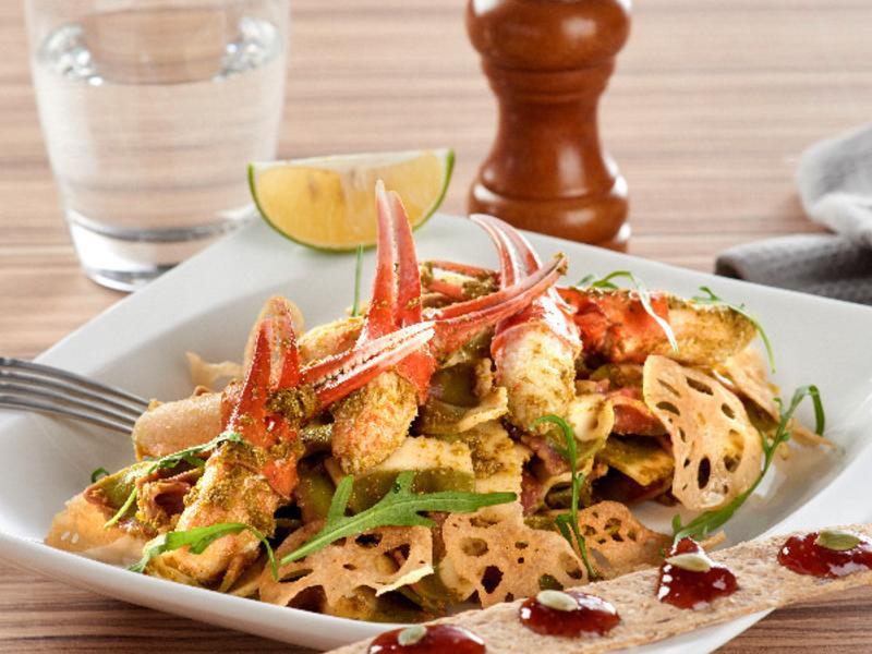 禾法頌羅勒醬蟹肉蝴蝶麵