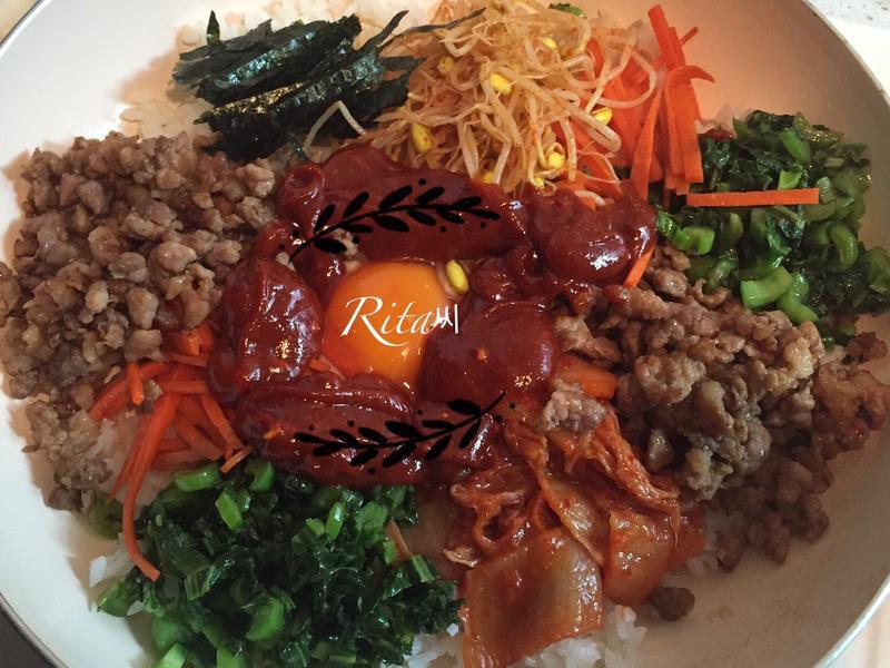 韓式平底鍋拌飯비빔밥