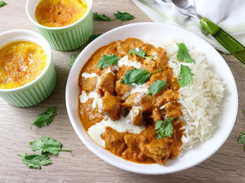 印度香料雞咖哩飯+南瓜布丁