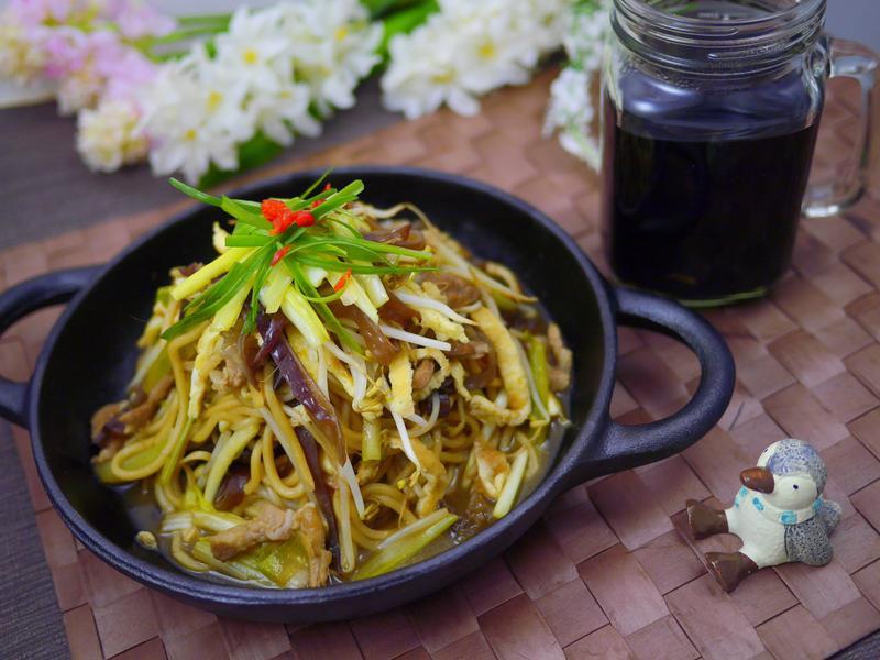 木須炒麵&黑豆水