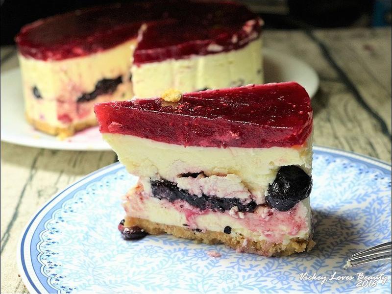 蔓越莓果凍藍莓夾心芝士蛋糕