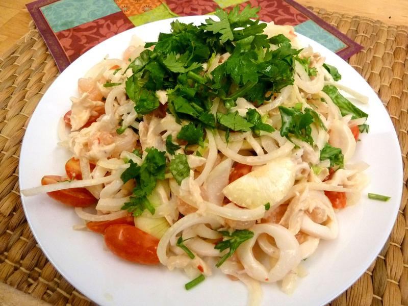 《永新沙拉》泰式涼拌海鮮沙拉~雞蝦花枝