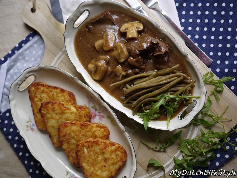 西洋菇燉牛肉