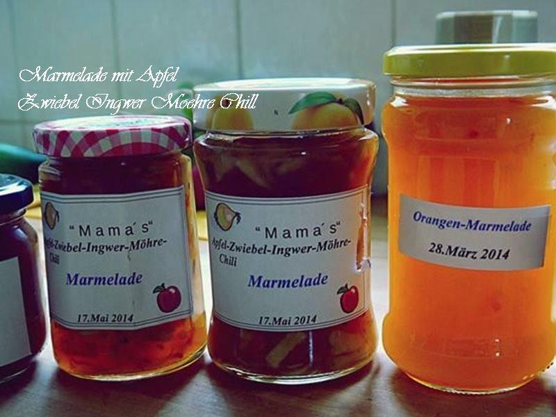婆婆的蘋果-薑-辣椒-洋蔥-胡蘿蔔果醬