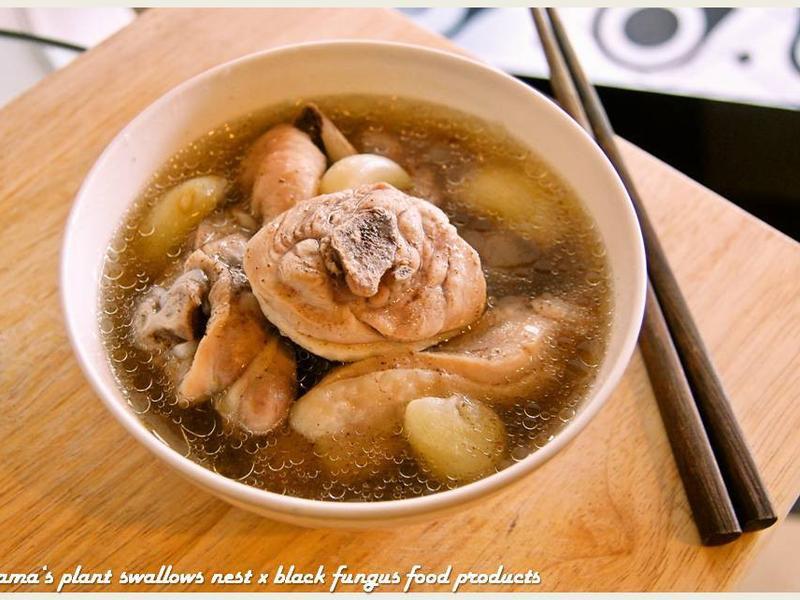 黑木耳蒜頭雞湯.柯媽媽の植物燕窩