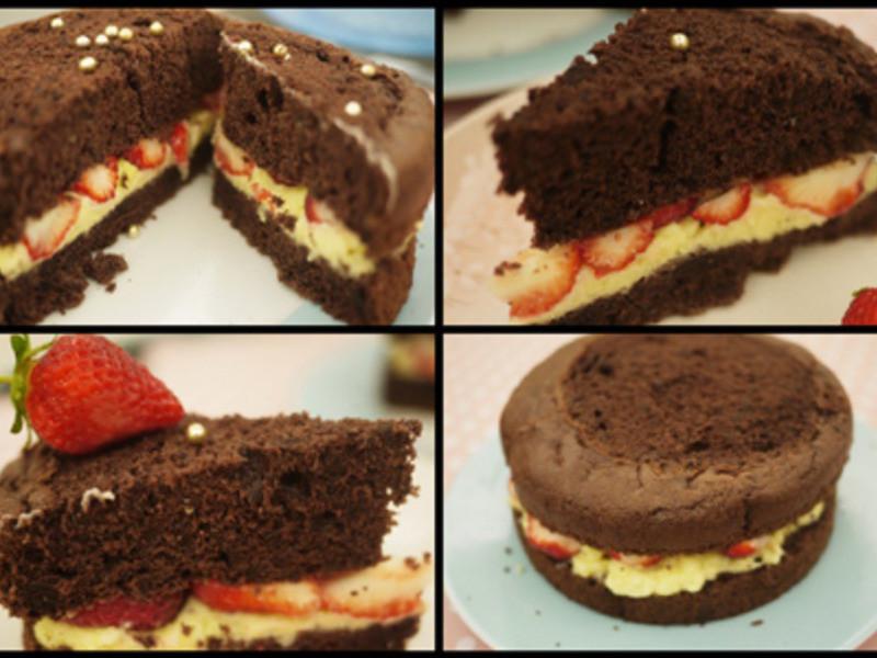 珠寶盒蛋糕-『巧克力甜慕思草莓夾心cake』