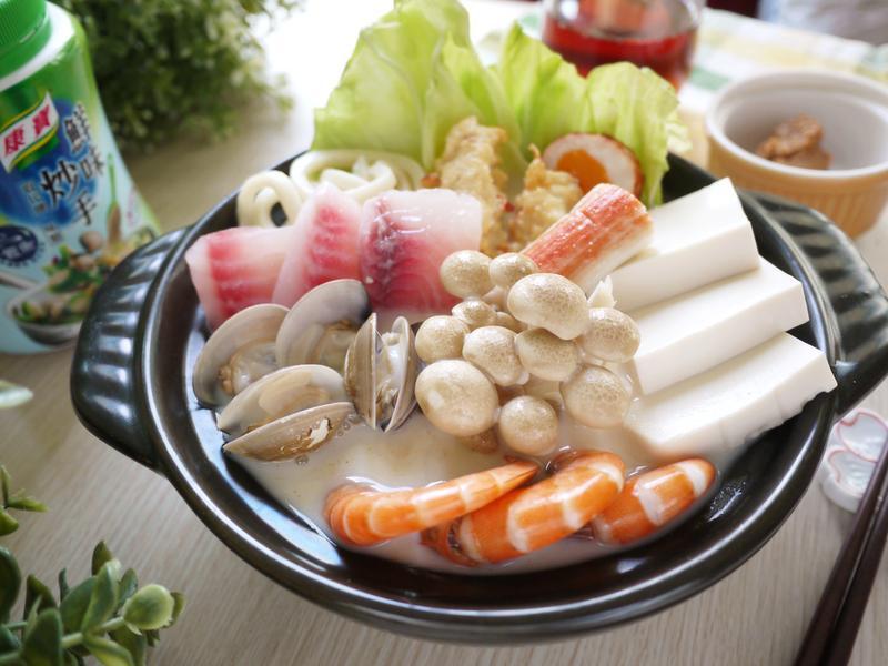 味噌海鮮牛奶鍋【康寶鮮味炒手】