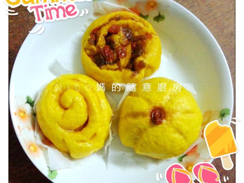 """Nico媽的隨意廚房 """"南瓜饅頭"""""""