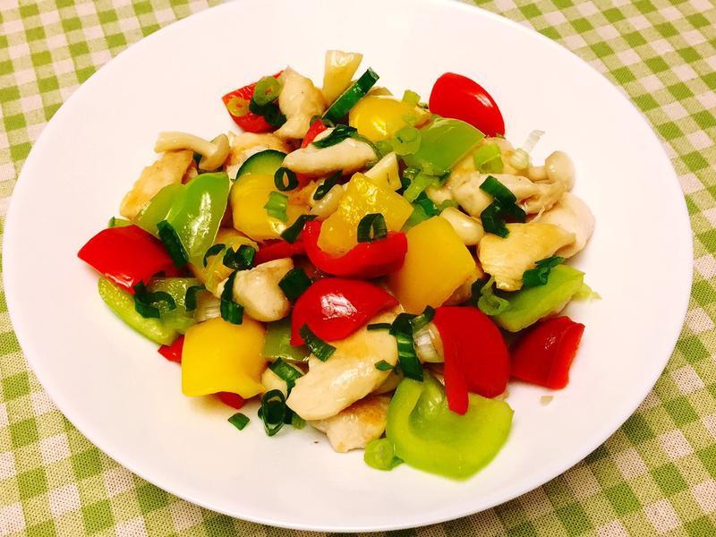 彩椒白菇黃瓜雞丁