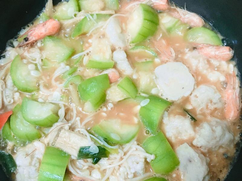 絲瓜海鮮煲 健康低脂料理