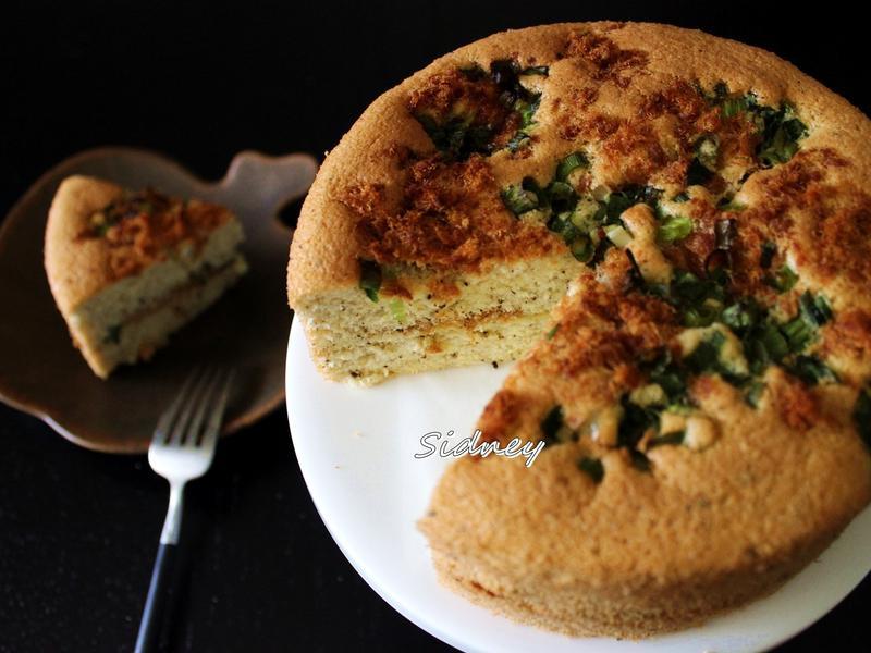 茶香鹹蛋糕(全蛋打發蒸烤法)