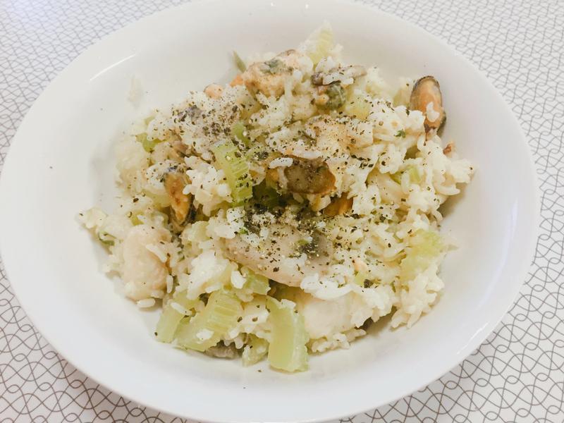 簡單做 海鮮白醬燉飯🦀️🐟