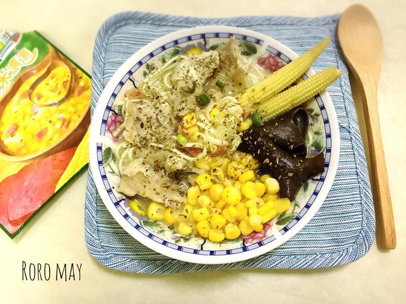 康寶濃湯之松阪豬肉奶油拉麵
