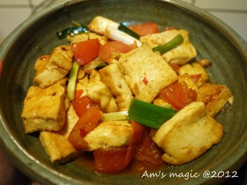 AM魔力~蔬菜料理-茄燒豆腐(可變成素食)