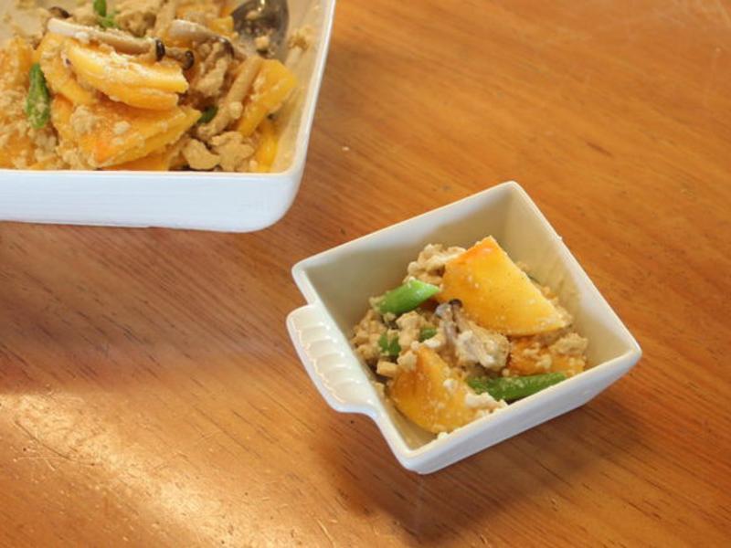 柿子豆腐拌菜(柿入り白和え)