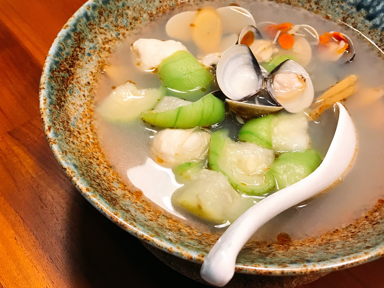 絲瓜蛤蠣煲