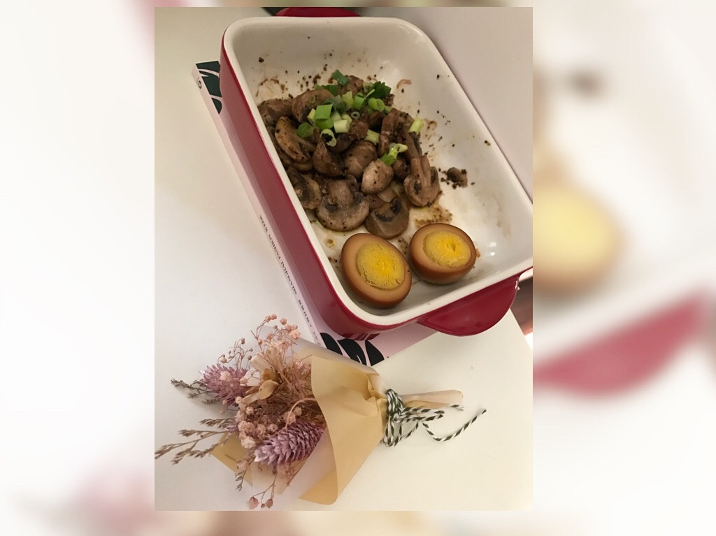 蒜香烤蘑菇