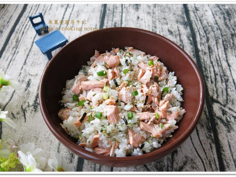 [香鬆鮭魚蓋飯]簡單易做 懶人料理