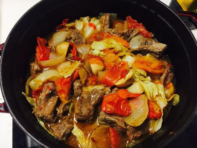 不加一滴水蔬菜煲牛肉