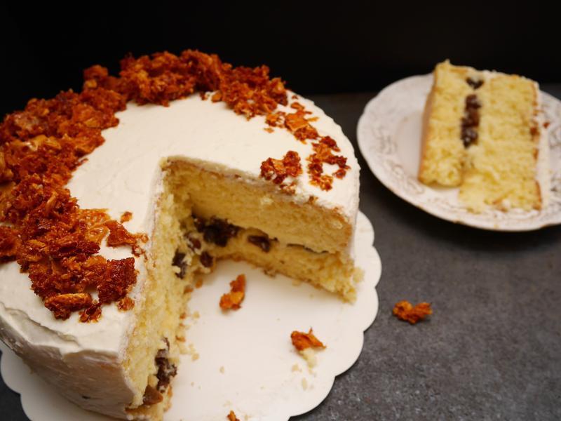 白巧克力蘭姆葡萄海綿蛋糕