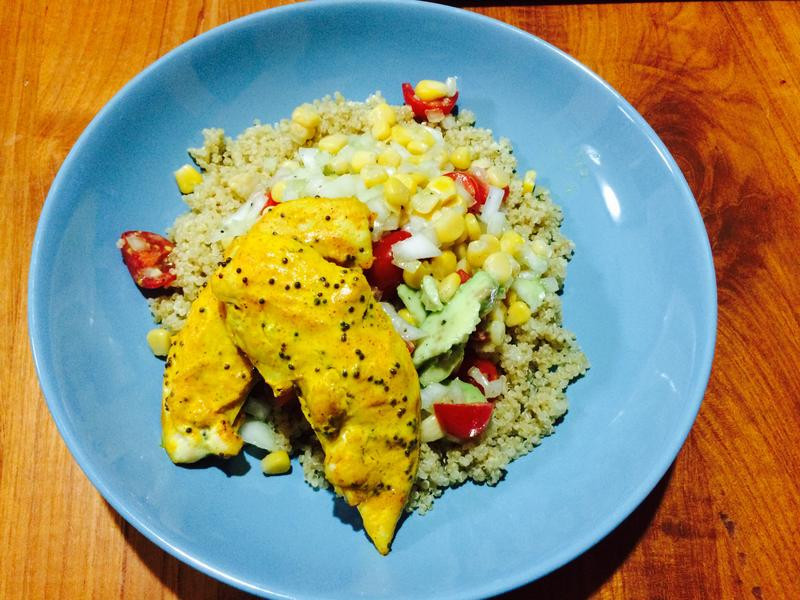 印度薑黃香料雞肉沙拉