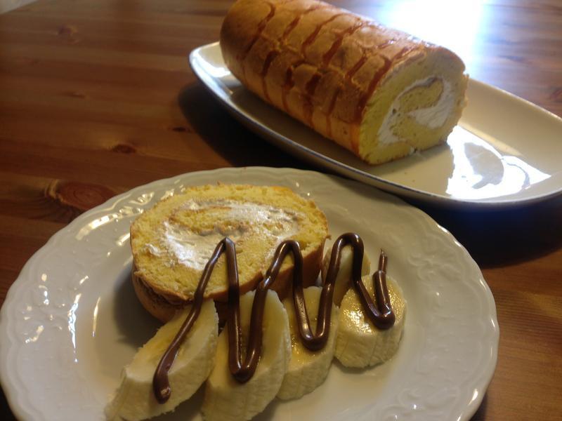 蛋糕18---火雞蛋花瑞士捲