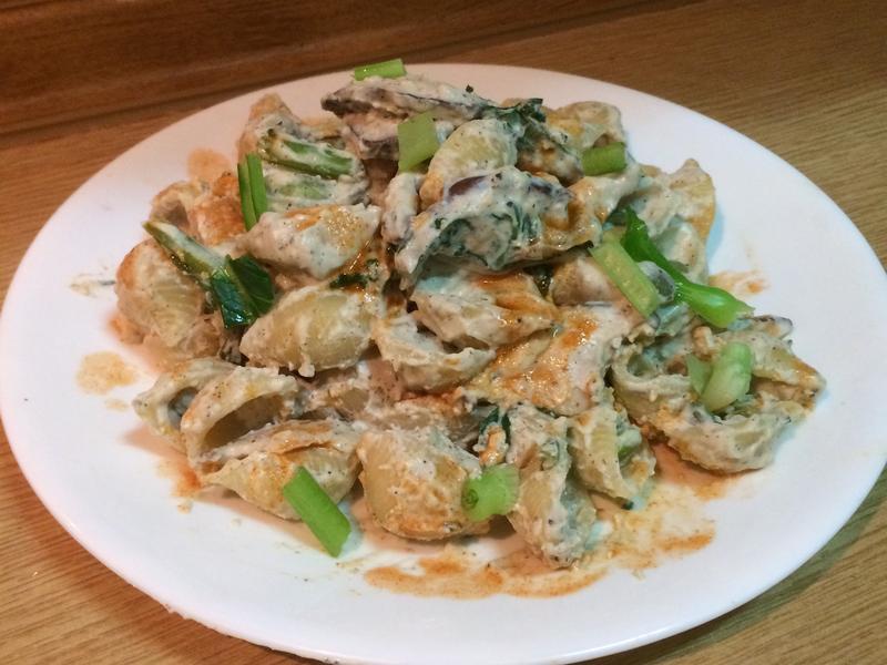 素食㊣白醬貝殼義大利麵