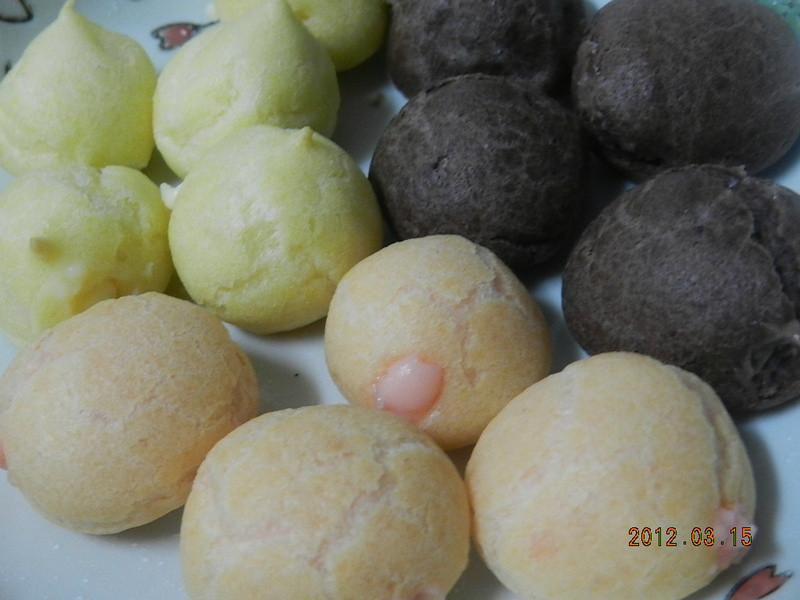 ㄚ曼達的廚房~三色小泡芙