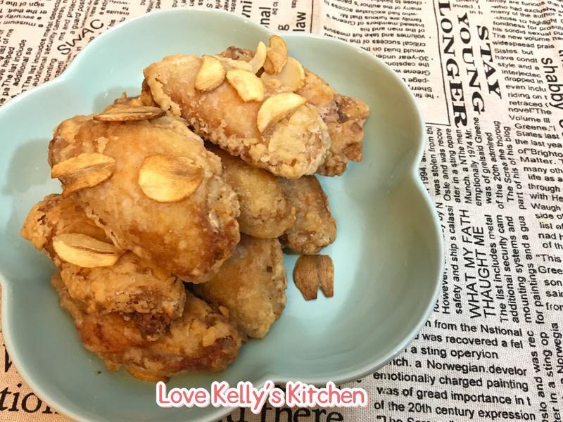 蒜片雞汁炸雞趐膀