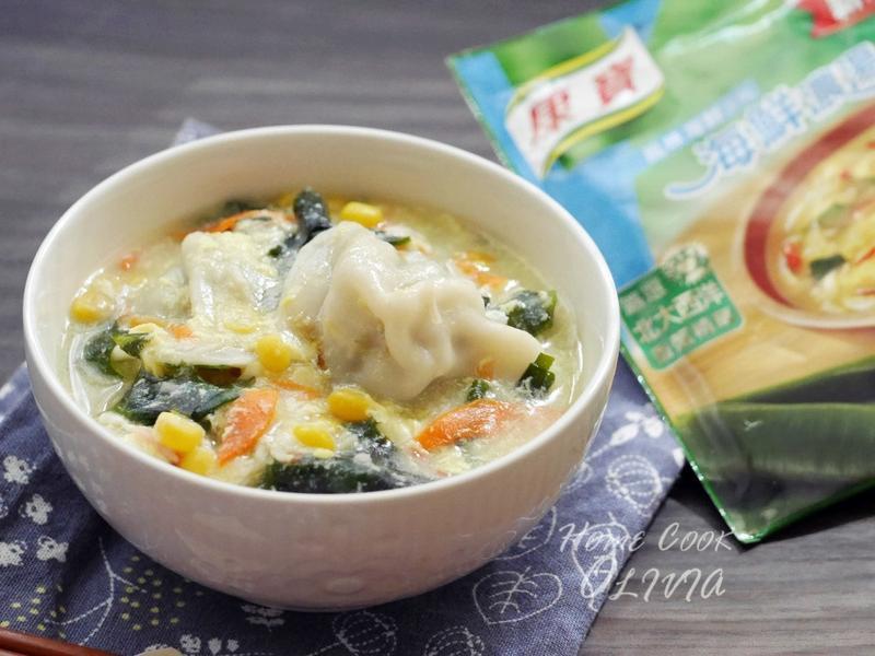 小廚娘♥海鮮玉米濃湯餃