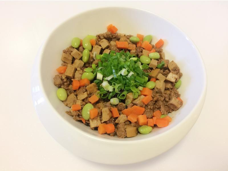 三星蔥炸醬黑米飯(三星蔥.黑米)