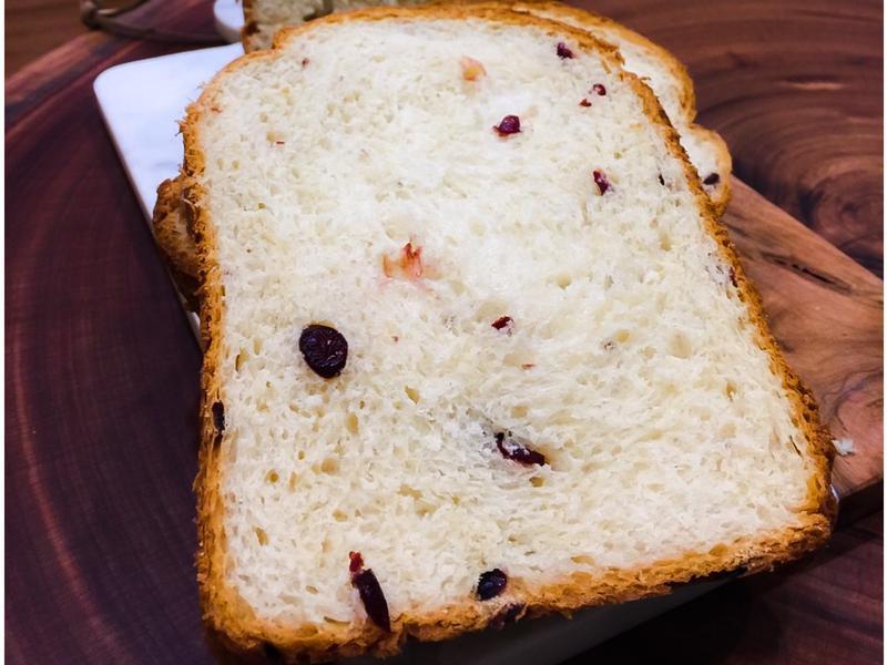 蔓越莓吐司(使用麵包機)