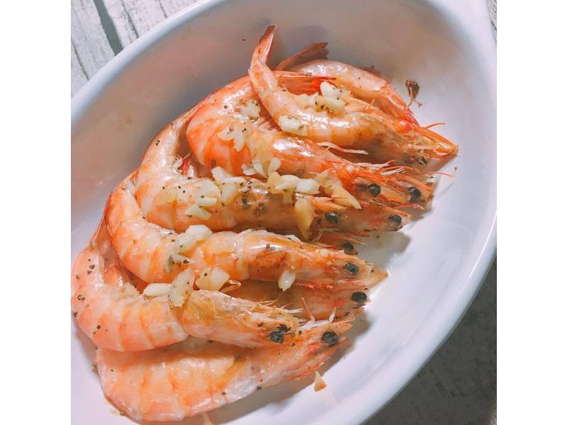 懶人料理 蒜味烤蝦