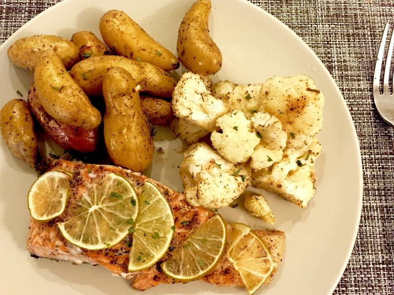 香檸烤鮭魚《烤箱料理》