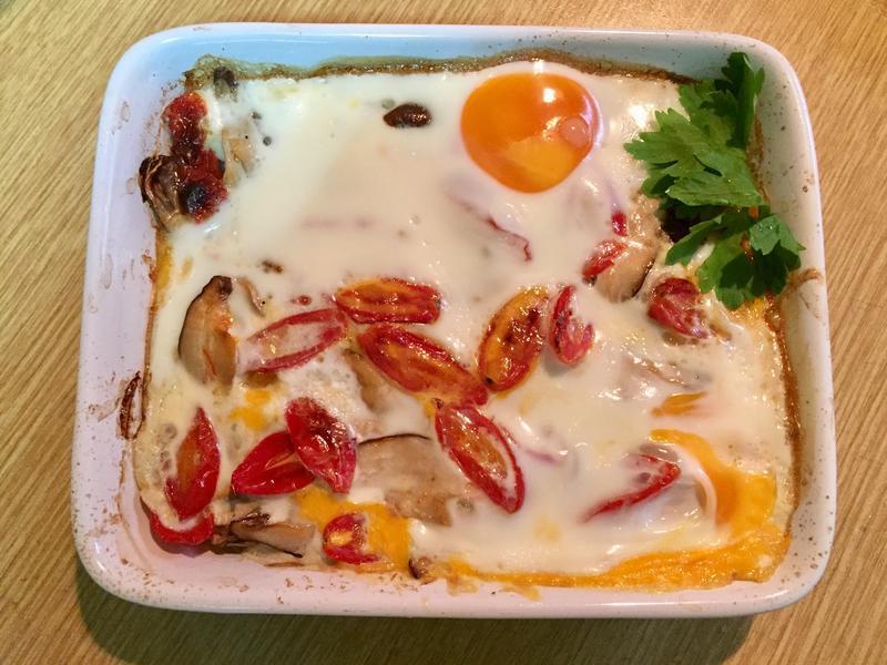 馬鈴薯蘑菇蕃茄烤蛋(蔬食)